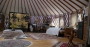 Camping in a luxury Yurt in the UK