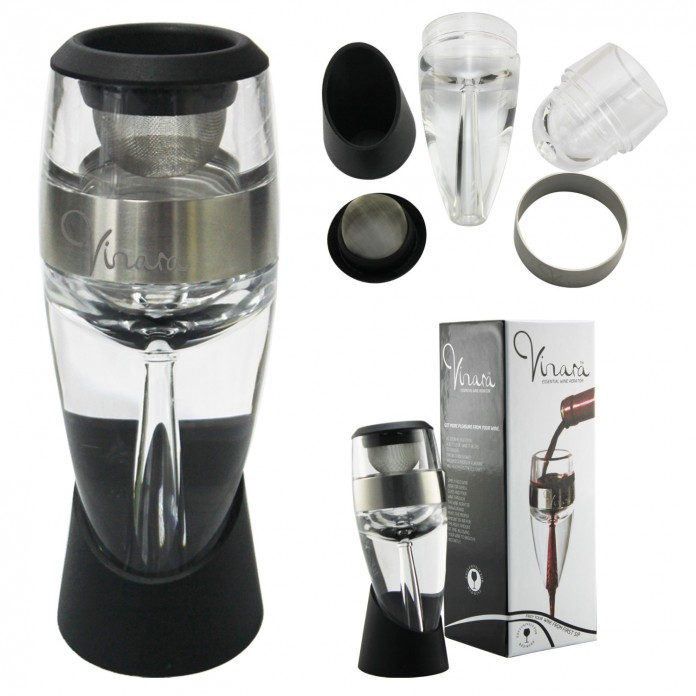 Vinturi Deluxe Red Wine Aerator Set – Easily Enhance the Aromatic Flavorfulness of Your Red Wines